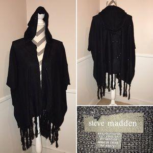STEVE MADDEN | hooded sparkly wrap